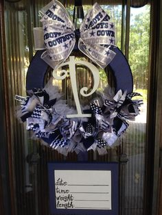 Hey, I found this really awesome Etsy listing at https://www.etsy.com/listing/188704473/baby-wreathdallas-cowboys-nfl-baby