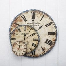 Alternative wall art - 1 or 3 clocks grouped together - (Provincial Home Living).