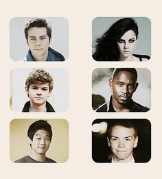 The cast - Thomas: Dylan O'Brien, Teresa: Kaya Scodelario, Newt: Thomas Brodie-Sangster, Alby: Aml Ameen, Minho: Ki Hong Lee, and Gally: Will Poulter.