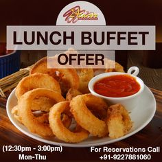 Enjoy Lunch Buffet every Monday to Thursday