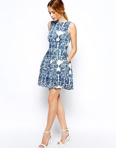 Even a fun print made of honor dress