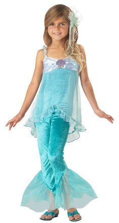 Mermaid Costumes for Girls | give a product review or submit a photo  sc 1 st  Pinterest & DIY Mermaid Costume | Pinterest | Mermaid tails Mermaid and Fabrics