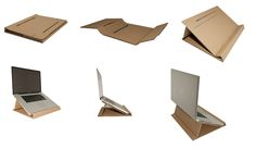 CARDBOARD LAPTOP STAND by Pedro André, via Behance