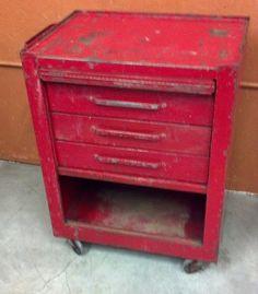 """Snap on"" vintage mechanics cart with original finish. SOLD !!"