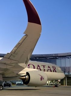 Qatar Airways first Airbus A350 is seen in Toulouse. travel and #save 50% on airfare with #AirConcierge.com