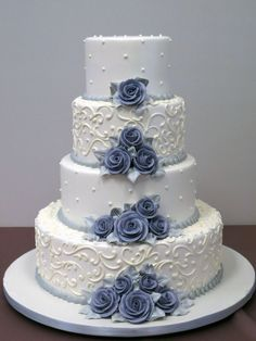 Wedding Cake 2555 - Oak Mill Bakery - European Style Baked Goods