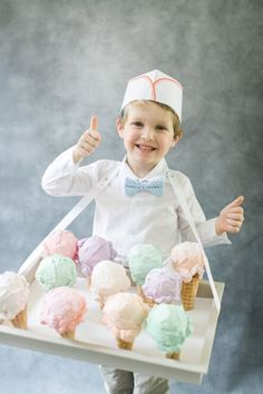 Ice cream boy costume, Ice Cream party outfit for boys