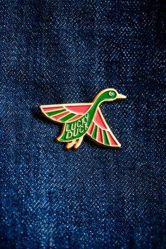lucky duck enamel pin