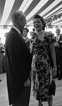 Joe Kennedy and daughter Patricia Kennedy at JFK and Jackie's wedding, September 1953