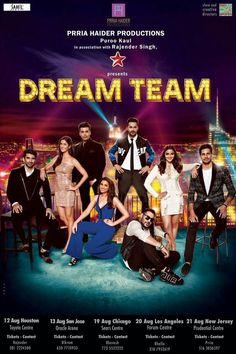 Alia,Sidharth,Varun,Karan,Katrina,Aditya,Parineeti and Baadshah for Dream Team 2016
