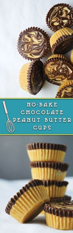 no bake chocolate peanut butter cups - easy NO BAKE peanut butter cups, perfect healthy treat! These are so good that I always keep some to munch on! (Peanut Butter No Baking Cookies) Coconut Dessert, Bon Dessert, Oreo Dessert, Brownie Desserts, Easy Desserts, Delicious Desserts, Yummy Food, Healthy Desserts, Healthy Baking