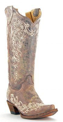 Womens Corral Crater Boots Bone #A1094 via @Allen & Cheryl Smith Boots