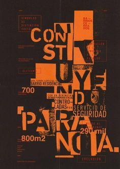 Alejandro Grimolizzi, Typography design and poster layouts. Typo Poster, Typographic Poster, Poster Layout, Typographic Design, Gfx Design, Type Design, Layout Design, Typography Inspiration, Layout Inspiration