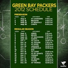 The Green Bay Packers 2012 Schedule