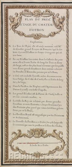 """""""Plan du prem[ier] étage du château d'Oyron"""""""