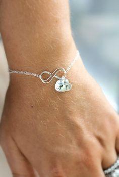 Infinity Bracelet Mom Bracelet Mother's Bracelet by LRoseDesigns, $42.00
