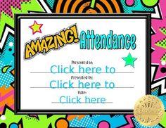 Amazing Attendance Certificate Attendance Certificate, Employee Appreciation, Teacher Pay Teachers, Teacher Newsletter, Editor, Presents, Teaching, Amazing, Image