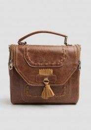 Piccadilly Place Satchel In Cognac shopruche.com