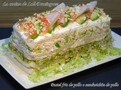 Pastel frio de pollo o sandwichón de pollo. Hoy me apetecía una receta fresquita para compartir con mis invitados y tengo que deciros que triunfe con este pastel salado que esta súper bueno. Receta en mi Blog: https://lacocinadelolidominguez.blogspot.com.es/2017/07/pastel-frio-de-pollo-o-sandwichon-de.html   Videoreceta en You Tube: https://www.youtube.com/watch?v=pm4rgv_bUh8