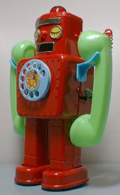 Yonezawa Telephone Robot. I'd love to have this telephone!