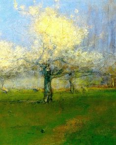 George Inness;Spring Blossoms, Montclair, New Jersey