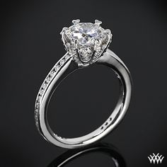 #Whiteflash #Verragio This Diamond Engagement Ring is from the Ritani Setting Collection.  It features a gorgeous 6-prong head that will perfectly compliment the round diamond center of your choice.  This design really packs a punch with Round Brilliant Diamond Melee microset around the head, within the prongs and channel-set along the shank (1.00ctw