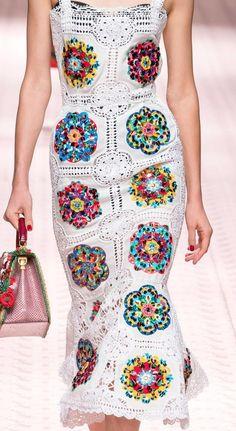 Thread Crochet, Crochet Granny, Knit Crochet, Dress Sewing Patterns, Knitting Patterns, Crochet Patterns, Haute Couture Designers, Mode Crochet, Recycled Fashion