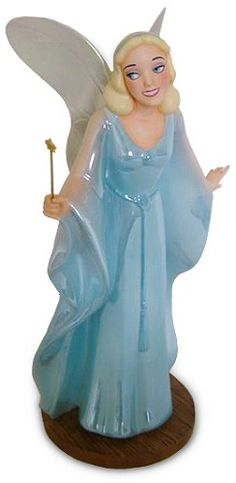 WDCC Disney Classics Pinocchio Blue Fairy Making Dreams Come True #WDCCDisneyClassics #Art. Wand: metal. Gown: Opalescent paint. Fall Event-1997.Closed 11/97.