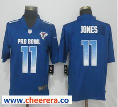fcca28af5d1 Nike NFC Falcons 11 Julio Jones Royal 2019 Pro Bowl Limited Jersey