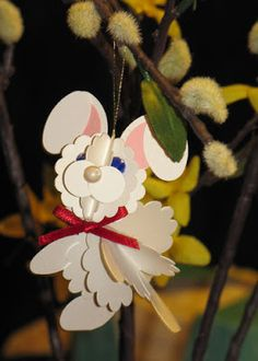 Alex's Creative Corner: 3D Punch art Ornaments - bunny