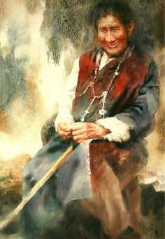 Wang Weimin -王伟民 Chinese watercolor- 中国水彩