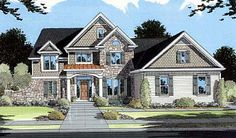 House Plan 50039 | European Traditional Plan with 2484 Sq. Ft., 4 Bedrooms, 4 Bathrooms, 2 Car Garage at family home plans