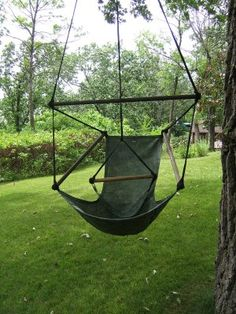 """sky chairs on a """"front porch"""" or outdoor library reading space would be neat."""