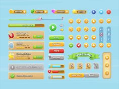 Game UI PSD | Free Mobile Game UI Kit PSD