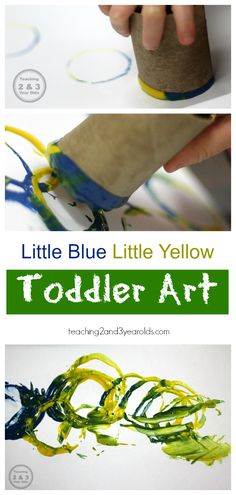 Little Blue and Little Yellow Toddler Art Activity for color recognition - Teaching 2 and 3 Year Olds