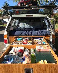 Minivan Camping, Pickup Camping, Truck Camping, Camping Hacks, Truck Topper Camping, Truck Camper Shells, Truck Bed Camper, Camper Van, Truck Tent