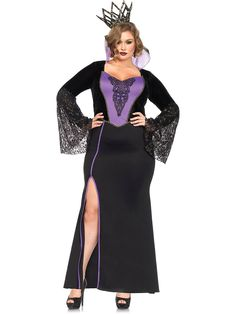 Be the fairest of the land this halloween!  You will look both sexy and dangerous when you rock this Sexy Evil Queen Costume.