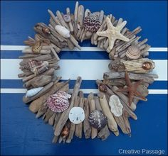 Souvenir Driftwood and Seashell wreath