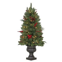 3 ft Winslow Fir Potted Artificial Christmas Tree with 50 Clear Lights ** You can get additional details at the image link.