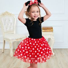 8c66d0622dc8fc Fancy Girl Carnival Party Dress Kids Cartoon Mouse Princess Party Halloween  Costume Polka Dot Baby Clothes