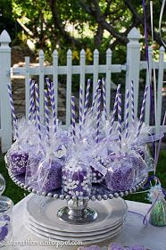 Start at Home: Sofia the First Birthday Party Love this idea for chocolate covered  marshmallows!!