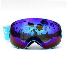 COPOZZ Mirrored Professional Ski Goggles Double Lens Anti-fog w/ Anti-UV 400…