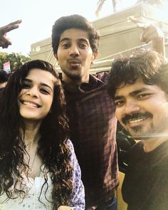 Early morning wrap!...   Dulquer and Mithila palkar from the set of Karwaan  #Dulquer