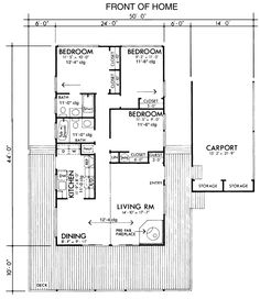 Cabin Retro House Plan 57369 Level One
