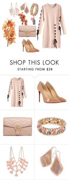 """Untitled #334"" by bosniamode ❤ liked on Polyvore featuring Christian Louboutin, Gucci, Design Lab and Kendra Scott"