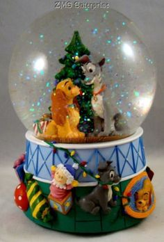 Walt Disney Music Snow Globe The Lady and the Tramp