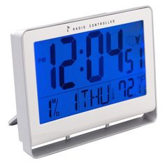 iWake LCD Digital Atomic Alarm Clock with Blue Back-light
