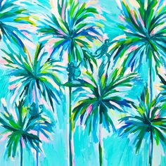 Painting Diy Canvases Lilly Pulitzer 64 Ideas For 2019 Lily Pulitzer Painting, Lilly Pulitzer Iphone Wallpaper, Lilly Pulitzer Patterns, Lilly Pulitzer Prints, Diy Canvas, Canvas Art, Diy Painting, Painting Inspiration, Watercolor Art