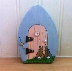 Woodland magic fairy door, handmade nursery decoration, magical elf doorway…