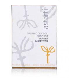 """Astarti"" organic vanilla & beeswax soap @ just Olives, Aloe Vera, Lavender Soap, Spirulina, Biologique, Natural Cosmetics, Vanilla, Greek, Mint"